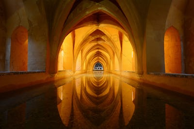 Royal bathroom in Alcazar - Seville, Spain