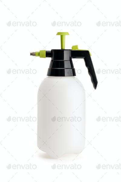 Pressure sprayer bottle isolated on white background