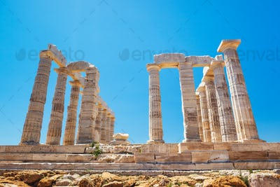 Ancient Temple Greek Ruins Acropolis