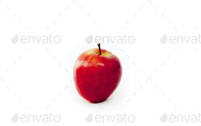 Close-up of apple on white background
