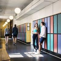 Students (14-15) in corridor