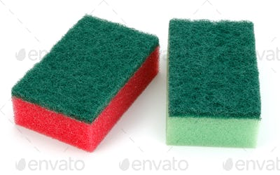 sponges isolated on white background cutout
