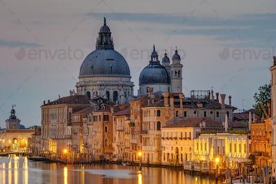 The Basilica Di Santa Maria Della Salute and the Canale Grande