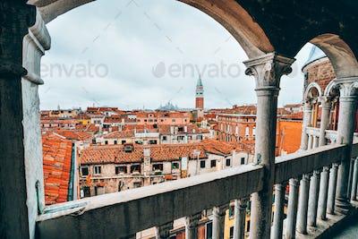 Venice, Italy. The Palazzo Contarini del Bovolo also called the Palazzo Contarini Minelli dal Bovolo