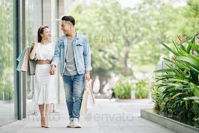 Vietnamese couple holding hands