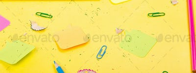 Banner of Search idea concept on yellow background.