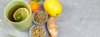 Banner of Natural medicine. Treatment for colds