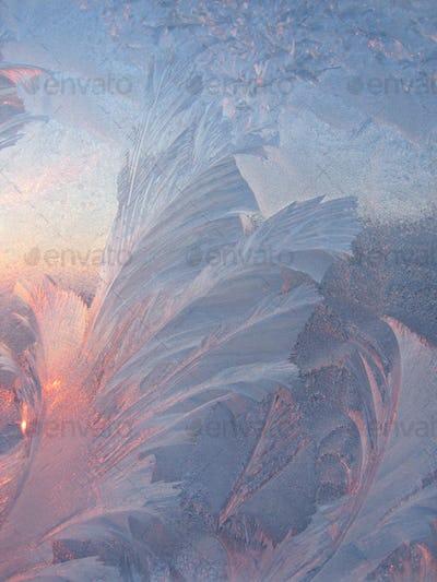 Ice and sun winter texture