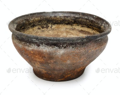 Old ceramic bowl or flower pot