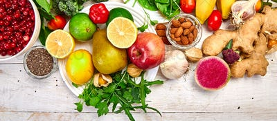 Natural products rich in antioxidants and vitamins