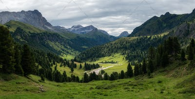 Hiking in the Dolomites mountains