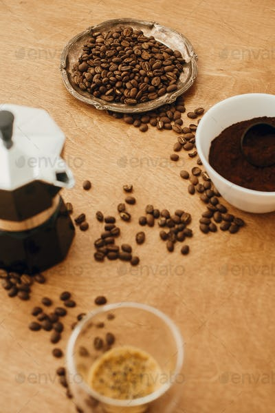 Alternative coffee brewing process
