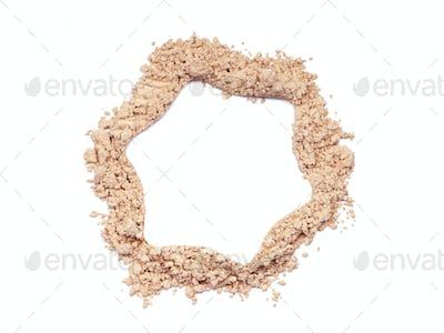 Star of a broken make up powder