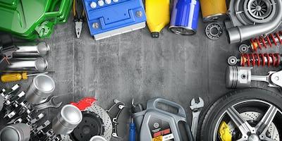 Car parts, spares and accesoires. Auto service and car repair workshop concept.