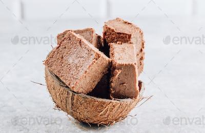 Raw vegan chocolate fudge
