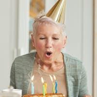 Woman making a wish
