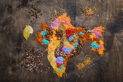 Different traditional Indian spices