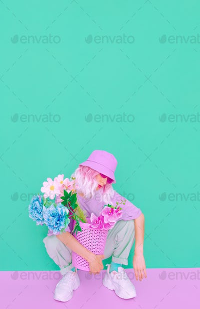 Flowers aesthetic mood.