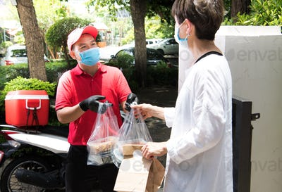 Delivery Man, Face mask, COVID-19