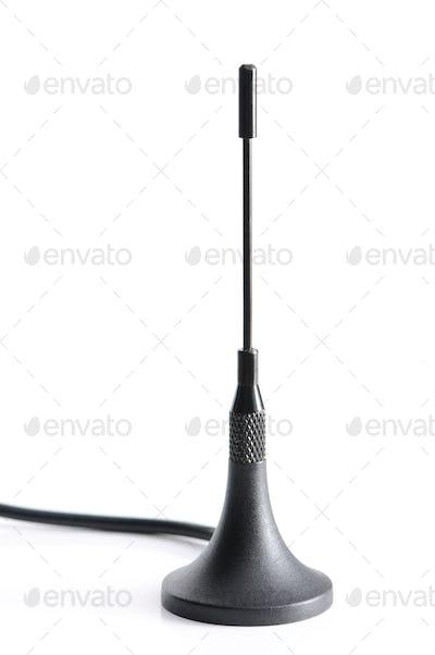 Close-up dark gsm antenna with wires