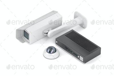 Digital video recorder and surveillance cameras