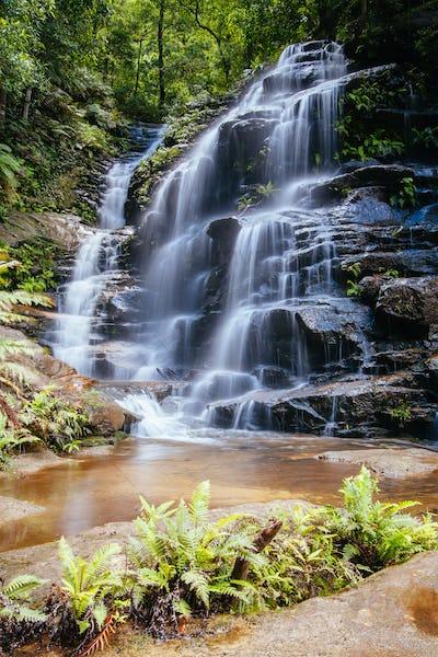 Wentworth Falls in Blue Mountains Australia