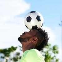 Balancing Soccerball on Head