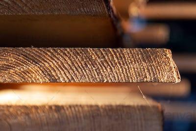 Cut wooden boards