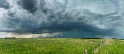 Tornado Cell over Grassy Field