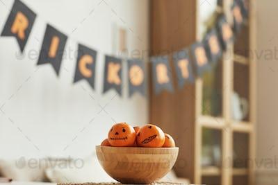 Spooky Tangerines In Bowl