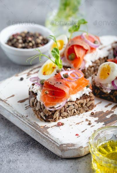 Scandinavian open faced sandwich