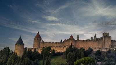 Fortress city of Carcassonne in France