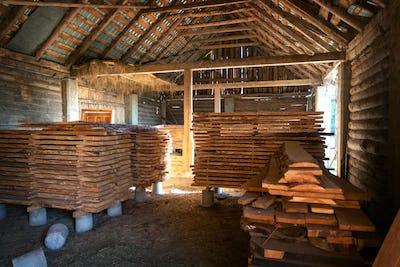 Woodworker workshop