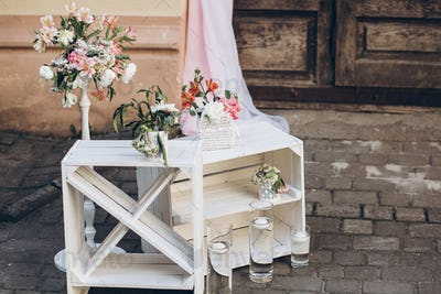 Stylish wedding decor and adorning