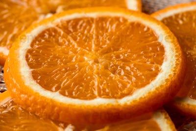 Dehydrating orange slice