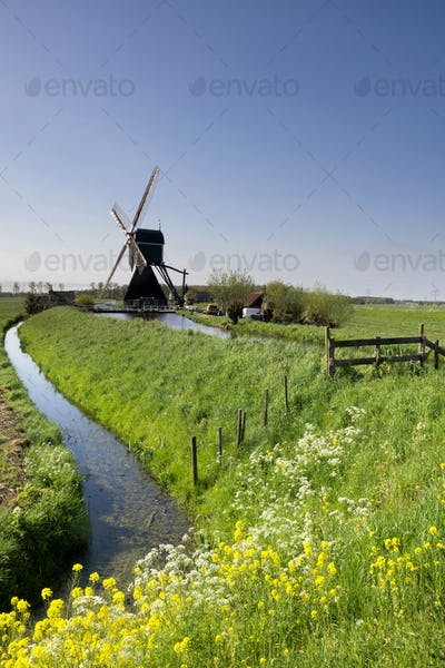 The Wingerdse windmill near Bleskensgraaf