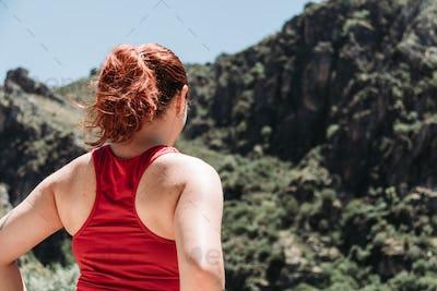 girl explore sierra nevada at summer
