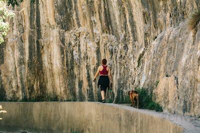 Girl walk at Los Cahorros, Granda, Spain
