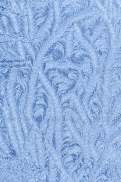ice patterns on glass