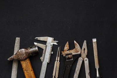 Tool set and instruments for hand work and fixing