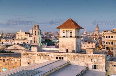 Havana, Cuba downtown skyline from the port