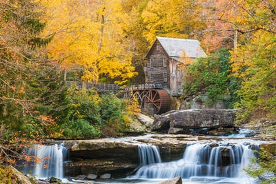 Babcock State Park, West Virginia, USA at Glade Creek Grist Mill