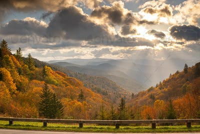 Great Smoky Mountains National Park, Tennessee, USA at the Newfound Pass