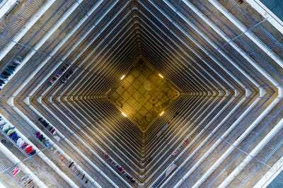 Symmetry of architecture building