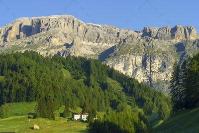 Arabba, mountain village in the Dolomites