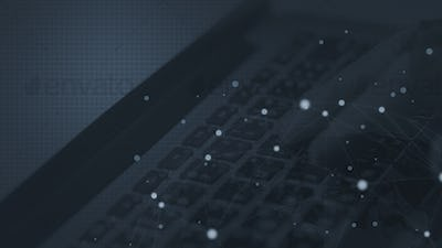 Close up of a laptop keyboard