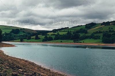 Ladybower Reservoir in Peak District National Park