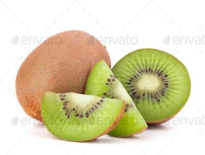 Whole kiwi fruit and his segments