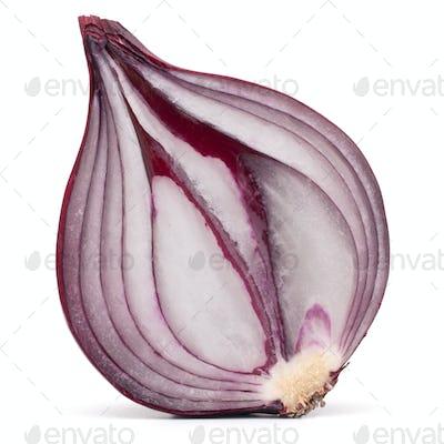 red onion bulb half