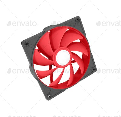 Computer chassis CPU cooler isolated